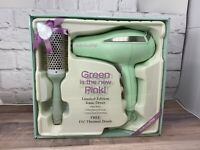 "BaByliss Pro 'Green is the New Pink' Ionic Dryer with 1 3/4"" Thermal Brush NEW"