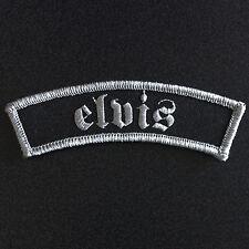ELVIS PRESLEY MACHINE WOVEN SEW ON SHOULDER PATCH ROCKER BIKER