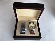 Steinhausen Men's Moon Phase Automatic Watch, Stainless with 2nd Wrist Band