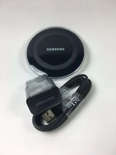 Samsung Galaxy Wireless Charging Qi Pad Desktop + 2A Wall MicroUSB Charger Black