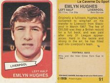 091 EMLYN HUGHES LIVERPOOL.FC CARD ENGLAND SCOTLAND PREMIER LEAGUE 1969 AB&C