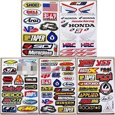 Moto-GP Dirt Bike Motocross Decal Racing ATV MX1 Car Helmet Stickers 5 sheets