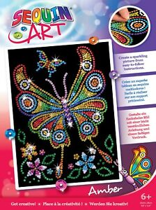 Sequin Art 1209 Amber Butterfly Craft Kit From The Red Range