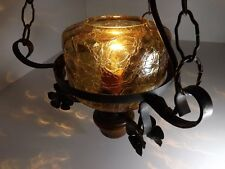 Hängelampe Gestell Schmiedeeisen Glasschirm Lampe Selbstbau Landhaus rustikal
