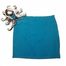 Nollie Mini Skirt Cotton Stretch Blue Bodycon Size Small