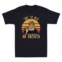 Judy Sheindlin Um Is Not An Answer Retro Vintage Sunset Men's Cotton T Shirt Tee