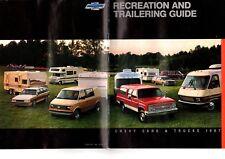 1987 Chevy RV/Towing/Trailering Guide Brochure: PickUp,CAMARO, 5th Wheel,Monte