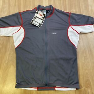 Mens Louis Garneau Perfecto Jersey 002765 / Short Sleeve / Gray And White