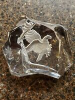 Val St. Lambert for Cartier Limited Edition EAGLE Crystal Paperweight 327/1000