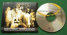 Backstreet Boys Show Me the Meaning of Being Lonely CD Single