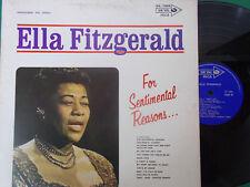 LP ELLA FITZGERALD FOR SENTIMENTAL REASON   PERFETTO
