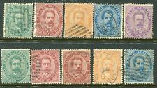 Italy. 1879 king x10 various used