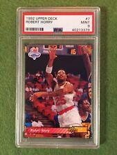 ROBERT HORRY ROOKIE CARD PSA 9 MINT 1992 NBA Upper Deck #7 Houston Rockets PSA 9