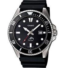 Casio MDV-106-1AV New Original 200M Duro Analog Mens Watch Black MDV-106 MDV106