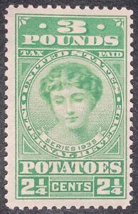 Travelstamps: 1935 US Stamps Potato Tax Stamp Scott #Ri3  2 1/4 cent 3 lbs MOGLH