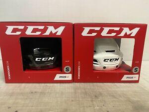 NEW CCM Resistance 110 Pro Stock Hockey Helmet White / Black 5103