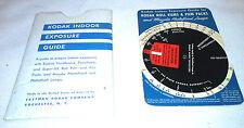 1939 Kodak Cardboard Exposure Guide Gage w Instructions