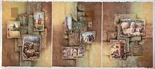 "Mikulas Kravjansky ""Acropolis"" Serigraph Signed and Numbered 61/195 Triptych"
