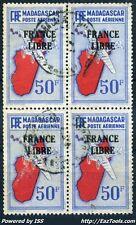 MADAGASCAR POSTE AERIENNE BLOC DE 4 N° 51 AVEC OBLITERATION A VOIR