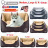 Deluxe Pet Puppy Dog Kitten Bed Washable Cushion Mat Mattress Fleece Faux Fur