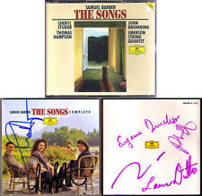 Cheryl Studer, Thomas Hampson, Emerson Quartet SIGNED Barber canzoni 2cd Browning