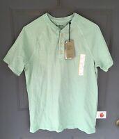 Goodfellow & Co Men's Short Sleeve Button-Up Crew Neck T-Shirt Green Small