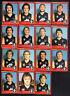 1982 VFL SCANLENS CARDS - CARLTON TEAM X 15 with unmarked Checklist