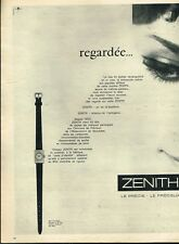 L- Publicité Advertising 1962 La Montre Zenith