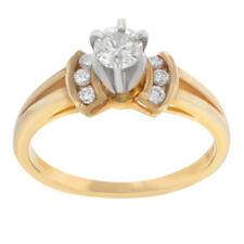 Anillos de joyería con diamantes naturales de oro blanco diamante