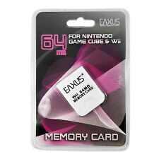 GameCube Wii 64 MB Memory Card Eaxus