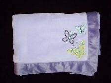 Nojo Lilac Purple Green Beautiful Butterfly Baby Blanket Plush Lavender Girls
