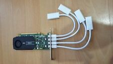 NVIDIA QUADRO NVS 510 2GB QUAD PORT GRAPHIC CARD + 4 MINI DVI TO HDMI CONNECTORS