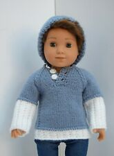 OUR GENERATION AMERICAN GIRL BOY BLUE JUMPER & HAT SET CLOTHES FOR 18INCH  DOLL