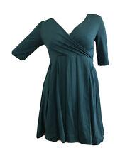 H&M Retro años 40 años 50 Casual Formal Fiesta Vestido Plisado Verde UK 8 EU 34 XS BNWT