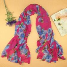 Rose Womens Voile Long Stole Scarves Shawl Scarf HOT