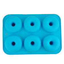 6 Cavity Silicone Donuts Mould Chocolate Candy Muffin Candy Making Molds Tray B