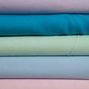 Plain Poly Cotton sheeting material great quality fabric per metre NEW 110gsm