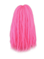 CYBERLOXSHOP MARLEY BRAID AFRO KINKY HAIR NEON PINK DREADS SYNTHETIC