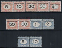 Somalia 1926 Sass. 41-51 Nuovo ** 100% Segnatasse Firmato Raybaudi