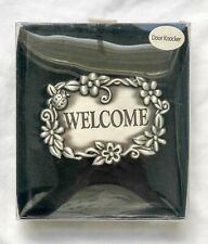 Welcome with Labybug & Flowers Metal Door Knocker - New