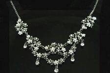 flower Rhinestone Crystal Costume Necklaces & Pendants