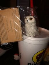 Snowy Owl Harmony Ball Pot Belly