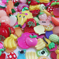 30 pcs Scrapbooking Resin Fruits Flat Back Craft Making Decorations Bulk 1-3cm