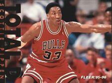 Scottie Pippen #9 Fleer Total D 1995/96 NBA Basketball Card