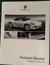 Porsche Exclusive Boxer Advertising Brochure, Booklet; Soft Cover, 2009