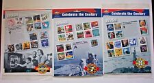 1950, 1960, 1970 CELEBRATE THE CENTURY 33 CENT COMMEMORATIVE STAMP SHEET -SEALED
