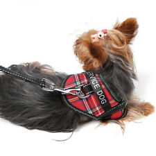 Dog Puppy Pet Adjustable Harness Padded Soft Mesh Fabric W/ Removable Patches