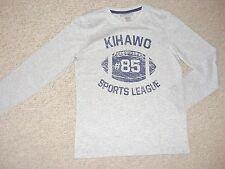 en Gris Niño Camiseta de manga larga con Imprimir Al Frente AGES 8 10 OR 12 años