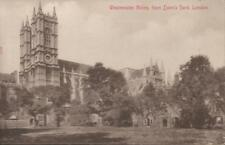 London England Westminster Abbey From Dean's Yard Half Pence Stamp PC 1909 Rare