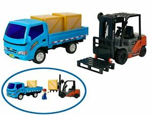 Big Daddy Forklift and Toy Truck Lorry Work Load & Pallets Combo Set New